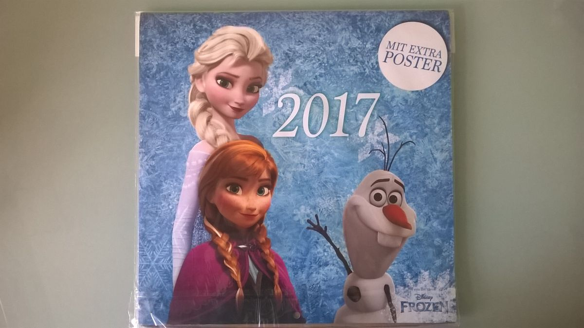 Kalendář 2017 Frozen/Ledové království (měsíční)